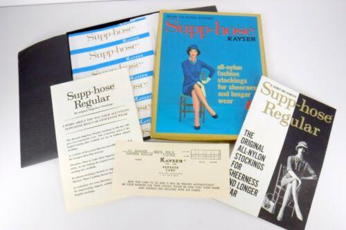 Vintage Kayser Nylon Stockings Supp-hose 10 - 11M Medium White Seamless