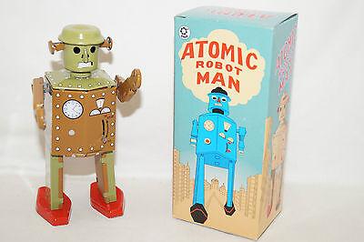 ATOMIC ROBOT MAN mechanical Astronaut Space TIN TOY China Blechspielzeug