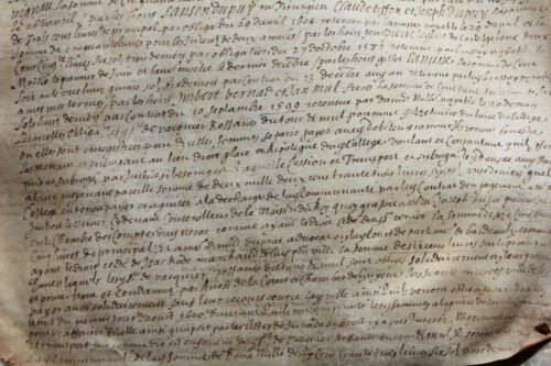 LARGE medieval1599 Henry IV royal notary manuscript parchment AUTHENTIC RARE
