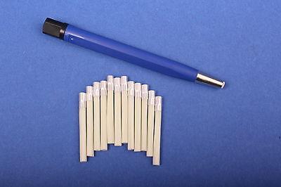 Set 1x Glasfaserradierer 4 mm blau + 12 Glasfaser-Ersatzpinsel Polierstift