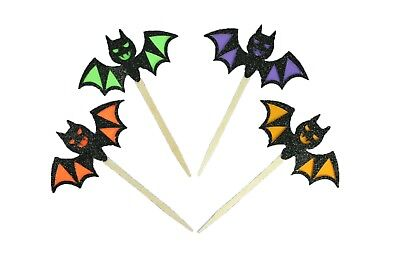 FANGS THE BAT Cupcake Toppers Halloween Party Decor Choose Pack Amount and Color