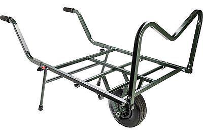 Leeda Carp Fishing Specimen Transport Barrow Single Wheel Trolley Tackle Storage