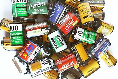 22 contenitori metallici vuoti rullini fotografici 35mm no film senza pellicola