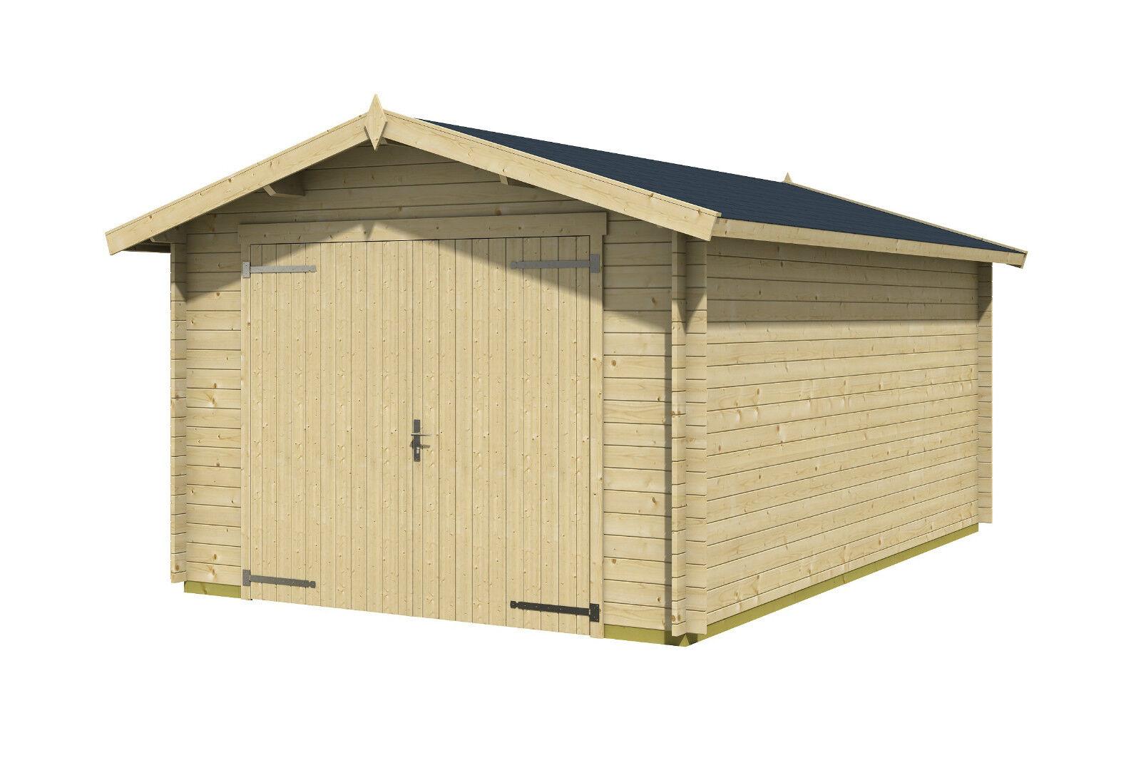 garage ca 350x530 cm gartenhaus ger tehaus blockhaus. Black Bedroom Furniture Sets. Home Design Ideas