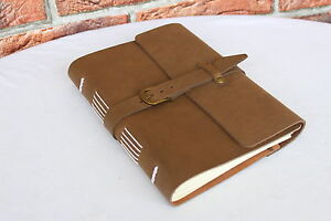 VINTAGE Echt Leder A5 Lederbuch Tagebuch Notizbuch LEATHER Notebook Journal #209