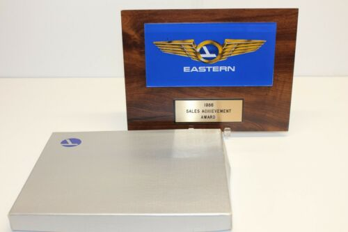Eastern Airlines 1986 Sales Achievement Award Plaque, Employee Award