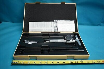 Used Mitutoyo Digital Depth Micrometer 329-350-10 With Case