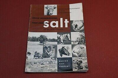 Morton Salt Company Trace Mineralized Free Choice Livestock Farming Feed Guide