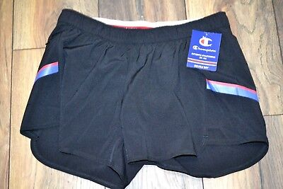 Champion Double Dry Training Short - Blk Champion Double Dry Training Shorts Built In Liner Running Athletic Workout