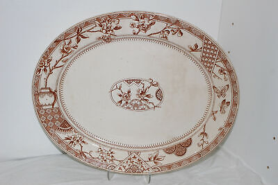 Details about  /Vintage Metal Serving Tray Oval Red Green Pattern  FREE SHIPPING!