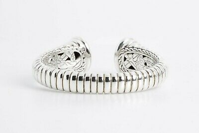 John Hardy Sterling Silver 925 Cable Cuff Bracelet + Bag (73g)