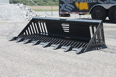 New Prowler 81 Extreme Duty Rock Bucket With Teeth Fits Skid Steers Bobcat