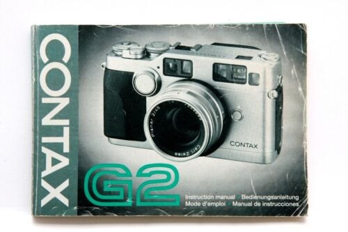 Excellent Contax G2 Instruction Manual #P4324