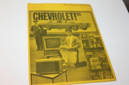 1965 CHEVROLET DEALER ADVERTISING KIT