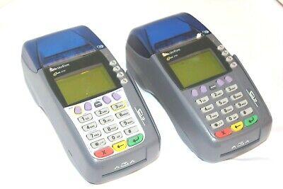 2x Verifone Omni 3750 Credit Card Terminal Reader Swiper. No Power Cords