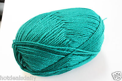 FOREST GREEN KNITTING YARN 300 METERS 80g 100% POLYESTER CROCHET KNIT CRAFT Forest Green Knitting Yarn