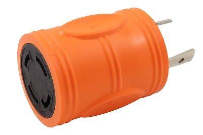 L6-30 Power (30 Amp NEMA L6-30P to 30 Amp NEMA L14-30R Industrial Power Adapter by AC WORKS®)