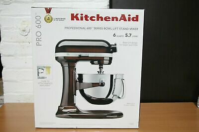 KitchenAid KP26M1XES 6-Quart Pro 600 Bowl-Lift Stand Mixer Espresso Brown