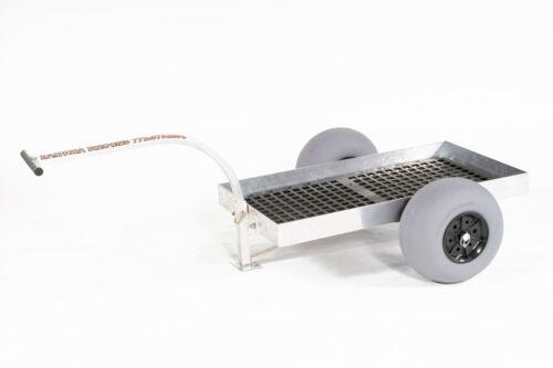2-Wheel UV Deck Aluminum Pull Wagon-BALLOON Beach Tires-Rust Free-Made in USA!