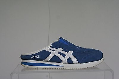 ( Asics Slip On Clogs Onitsuka Sneakers Hipster Suede Multi Blue Athletic Sz 8)