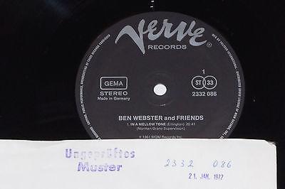 BEN WEBSTER AND FRIENDS - LP 1977 Verve Archiv-Copy mint