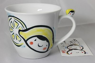 New GALLERY HANA Hand painting Porcelain Mug Lemon Chan from Japan