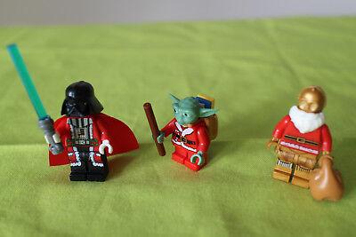 Trio 3-Set Darth Vader C3PO Yoda Star Wars custom Steine (Weihnachten Custome)