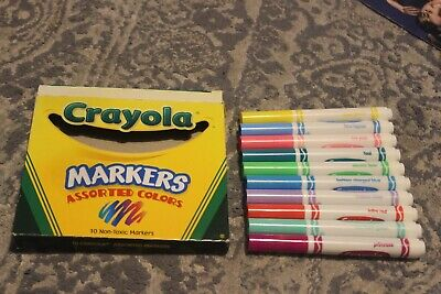 2002 Crayola Markers Assorted Colors Never Used! English Only Version Hot Pink