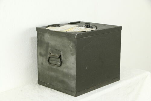 Iron Vintage Firebox Safe, Yale Combination Lock, Protectall New York #34567