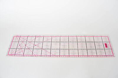 Pinkes Patchwork Lineal 60x15cm mit Zentimeterraster