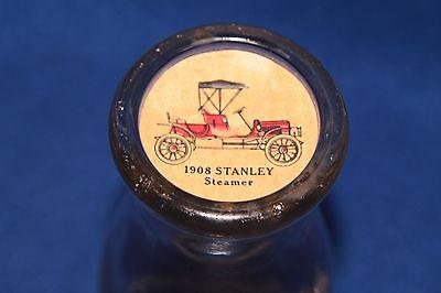 SMALL 6.5 INCH CLEAR MILK GLASS BOTTLE 1908 Stanley streamer stopper - Small Glass Milk Bottles