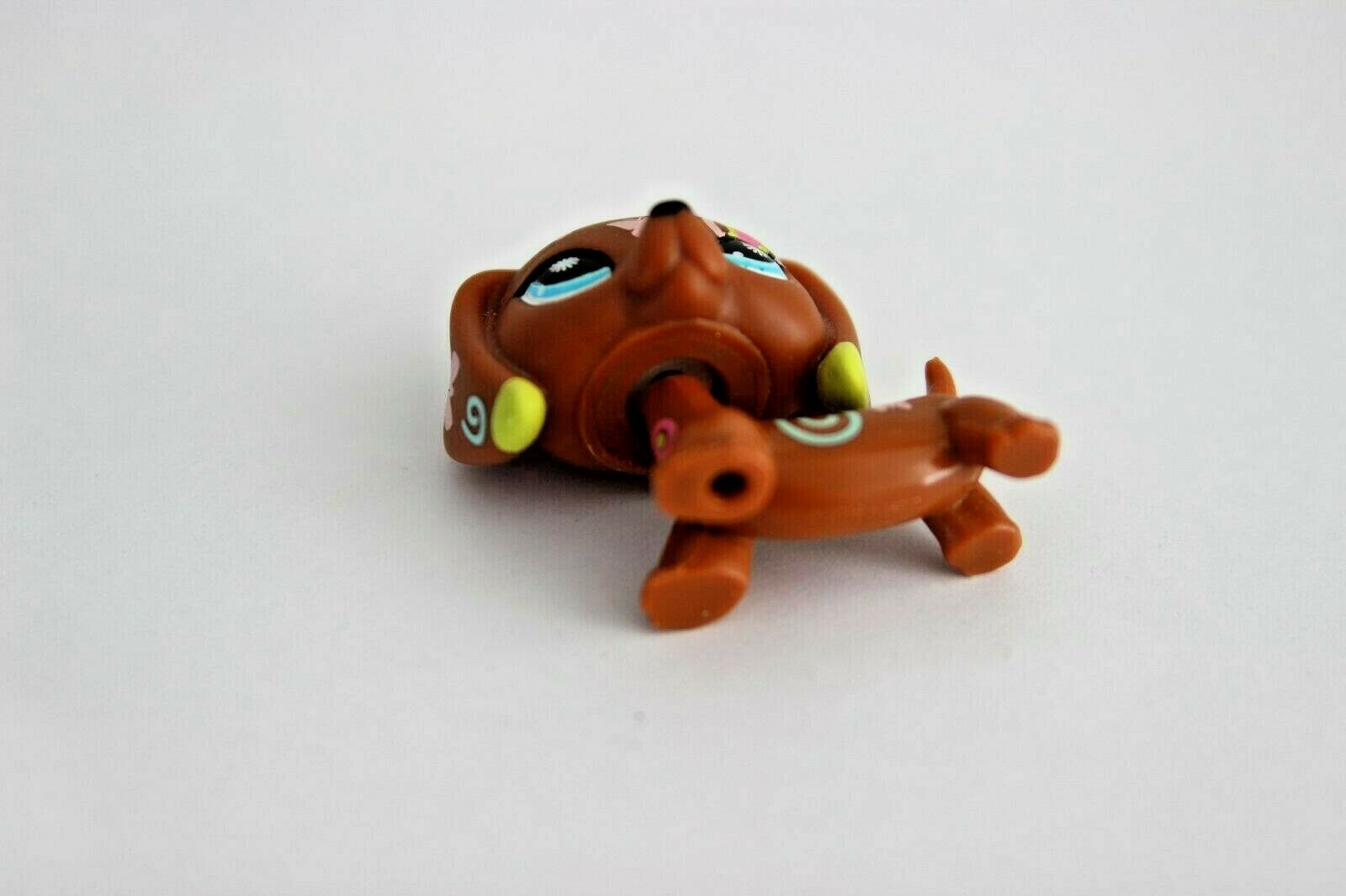 authentic littlest pet shop postcard # 1010 dachshund dog puppy teckel