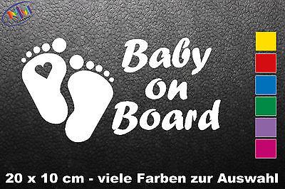 Auto Aufkleber Baby on Board mit Wunschname Herz Füße an Bord, Tour (281), gebraucht gebraucht kaufen  Dinkelscherben