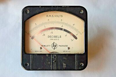 Vintage 1960 Hewlett Packard Hp Model 1051 R.m.s. Volts Decibels Panel Meter