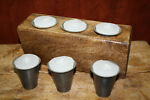6 Replacement Sugar Mold Candle Holder Primitive T picture