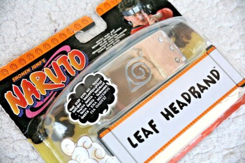 THE REAL OFFICIAL NARUTO LEAF HEADBAND, MATTEL 2002. BRAND NEW, OLD STOCK!