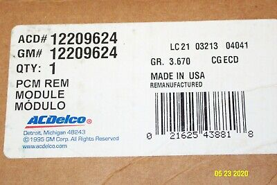 GM 12209624 Electronic Control Unit  ACDelco GM OEM