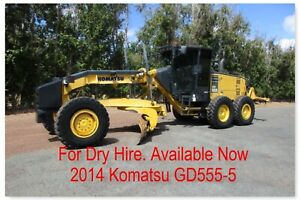 For Hire Komatsu GD555-5 Grader 14 foot blade. Pickering Brook Kalamunda Area Preview
