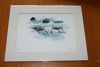 David Kearney B/W watercolour/pen Whitby (7