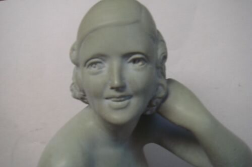 """Female Nude Sculpture Signed France 18"""" X 13.5"""""""