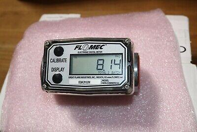 Flomec Aluminum Digital Gasoline Diesel Fuel Flow Meter 1 Inch Fnpt 3-50 Gpm