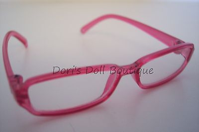 Doll Clothes fits American Girl * PINK RIMMED EYE GLASSES * Free USA Ship! on Rummage