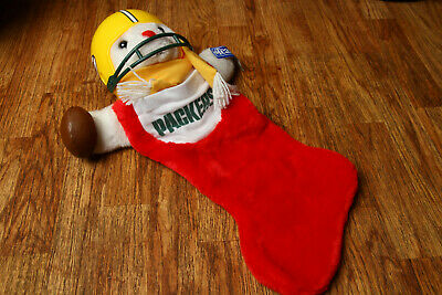 Vintage Green Bay Packers Xmas Christmas Stocking 1993 Bear Team NFL w/ Tag for sale  Shipping to Canada