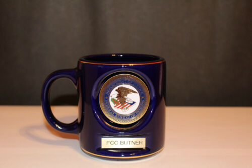 DOJ Federal Bureau Of Prisons Coffee Mug FCC Butner NC