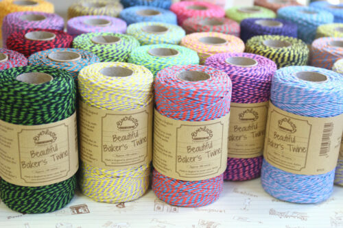 Everlasto Two Tone Bakers Twine 100m colourful craft parcel cotton stripe string