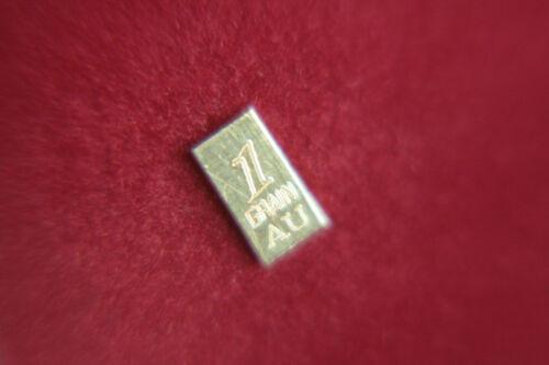 ACB GOLD 24K SOLID BULLION 1GRAIN VERTICAL BAR .999 FINE Au,! $