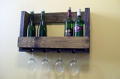 Pallet Rack (Pallet Wine Rack Glass Holder )