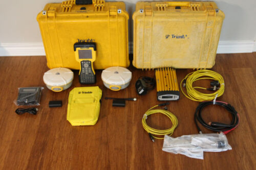 Trimble Dual 5800 L1 L2 GPS RTK Base Rover Survey Setup 450-470MHz w/ TM3 TSC2