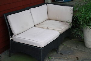 Patio seats with cushions