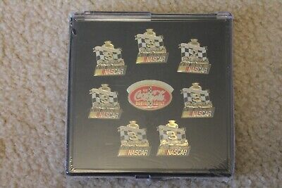 #3 Dale Earnhardt Sr. Coca-Cola Racing Family NASCAR Championship Pin Set NEW